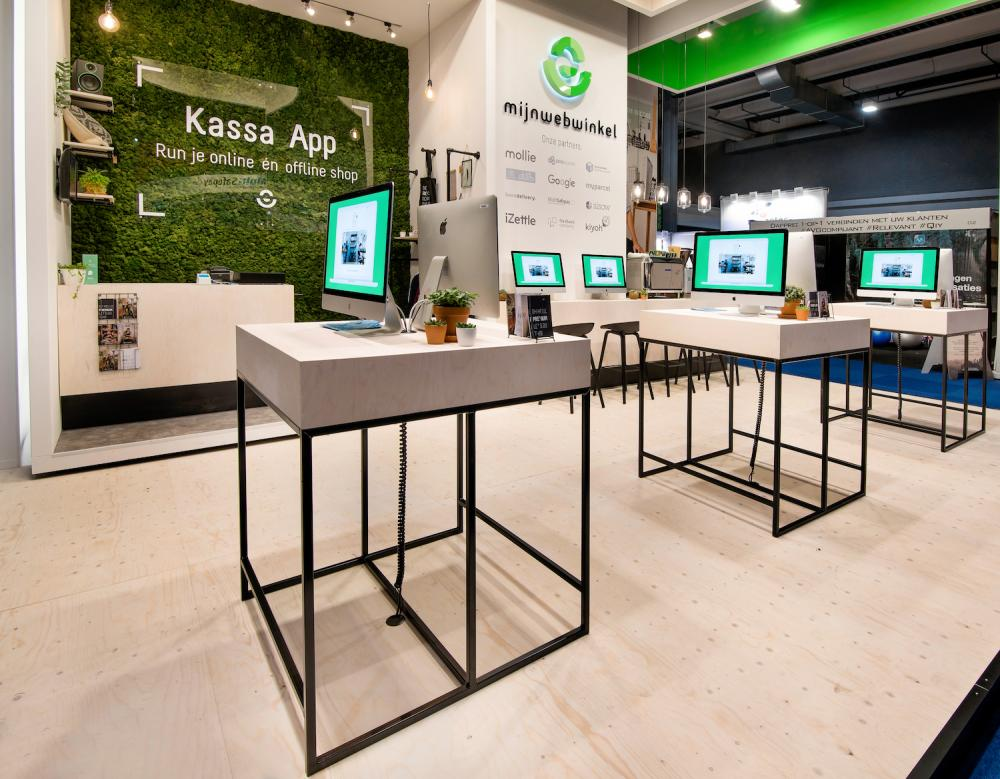 Green wall forMijn Webwinkel- WebwinkelVakdagen 2018.