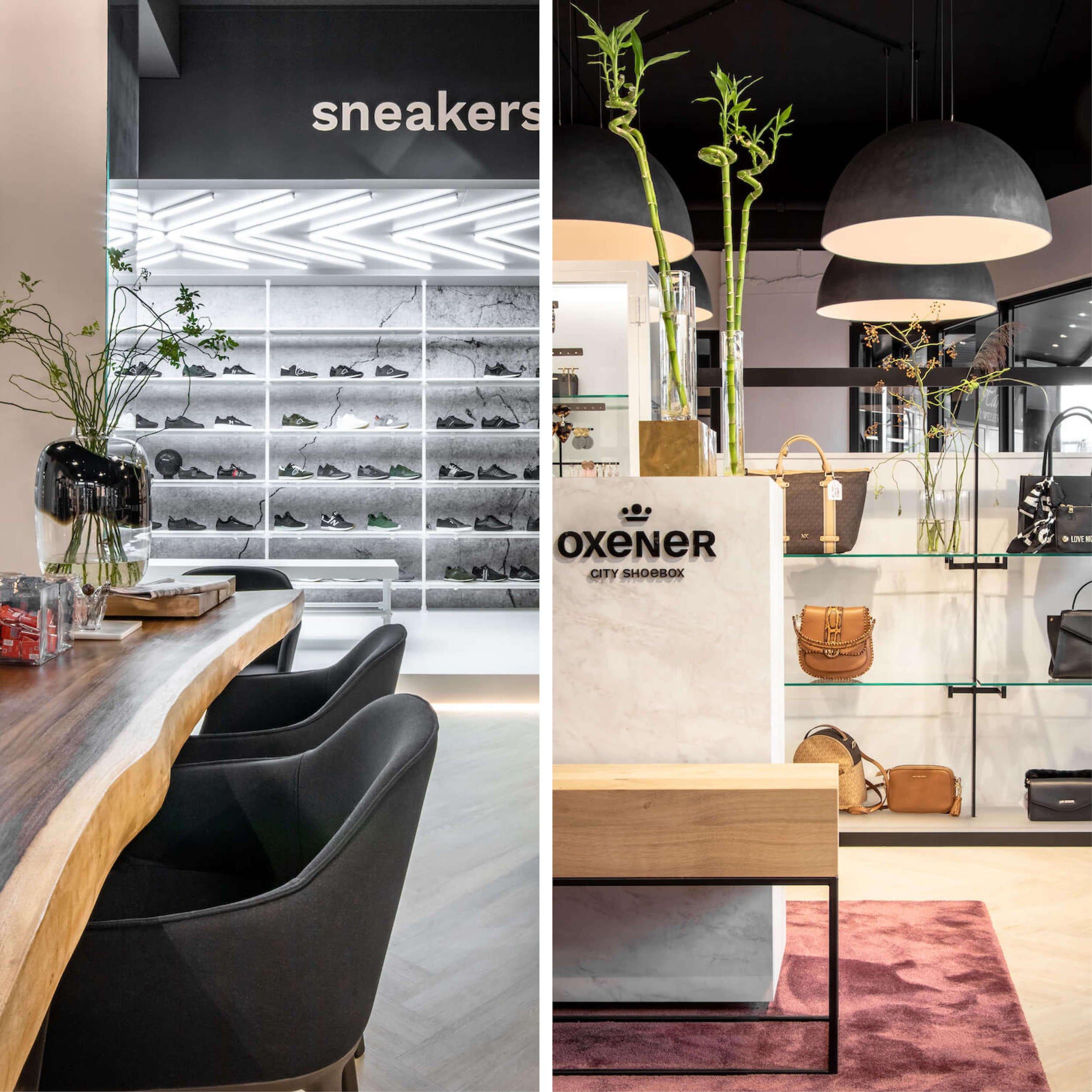 Winkelinterieur van Oxener schoenen