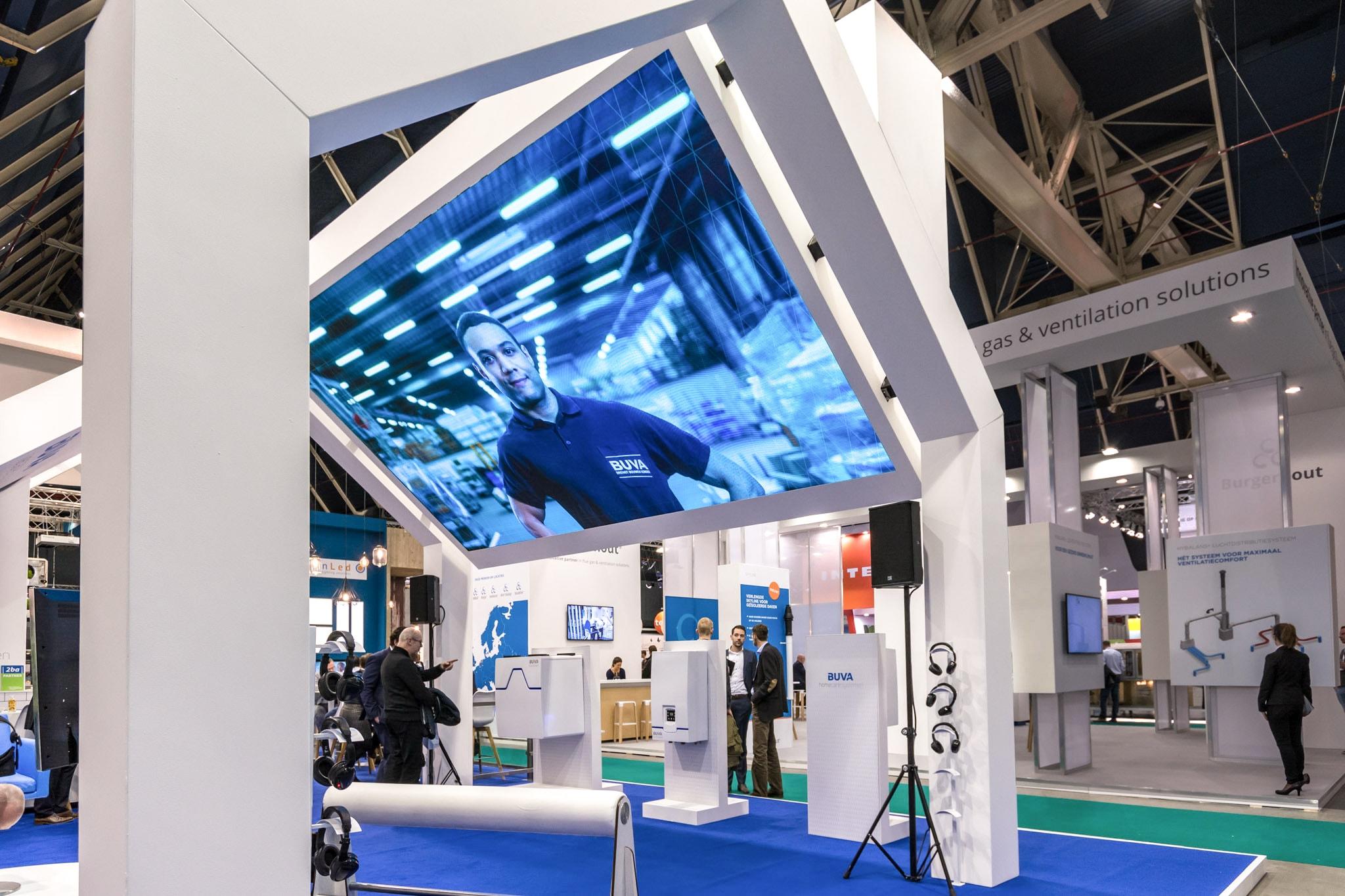 BUVA interactive stand display