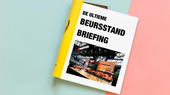 Briefing-beursstand