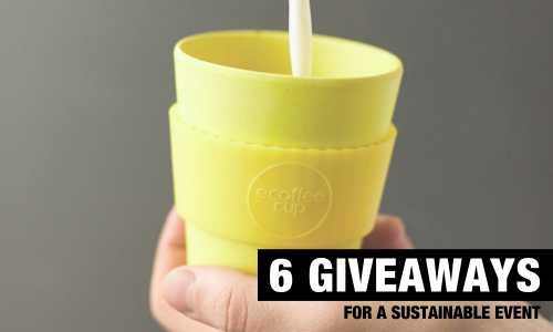 6 giveaways for a sustainable event