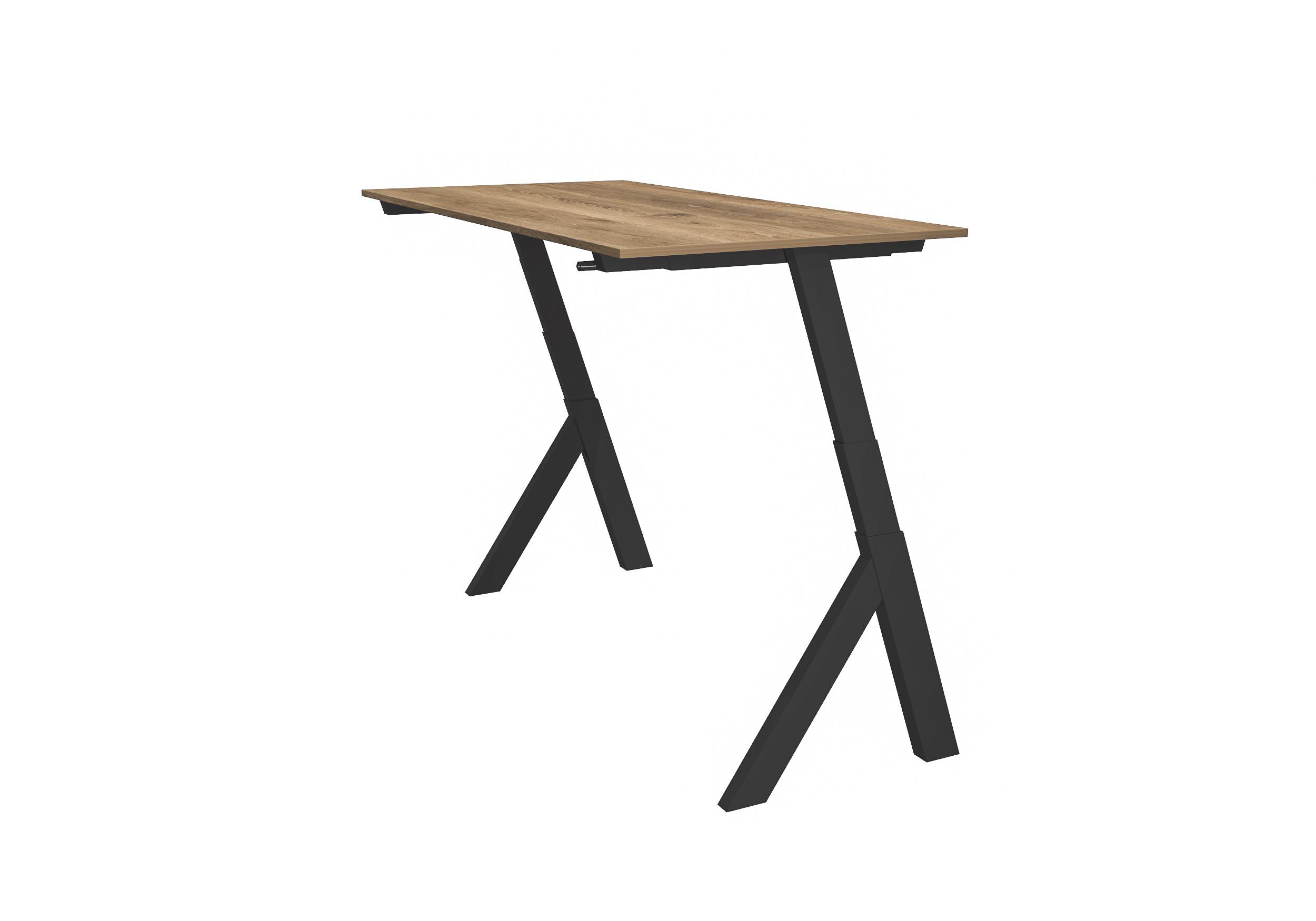 Workhub Standup Desk Zwart/Hout