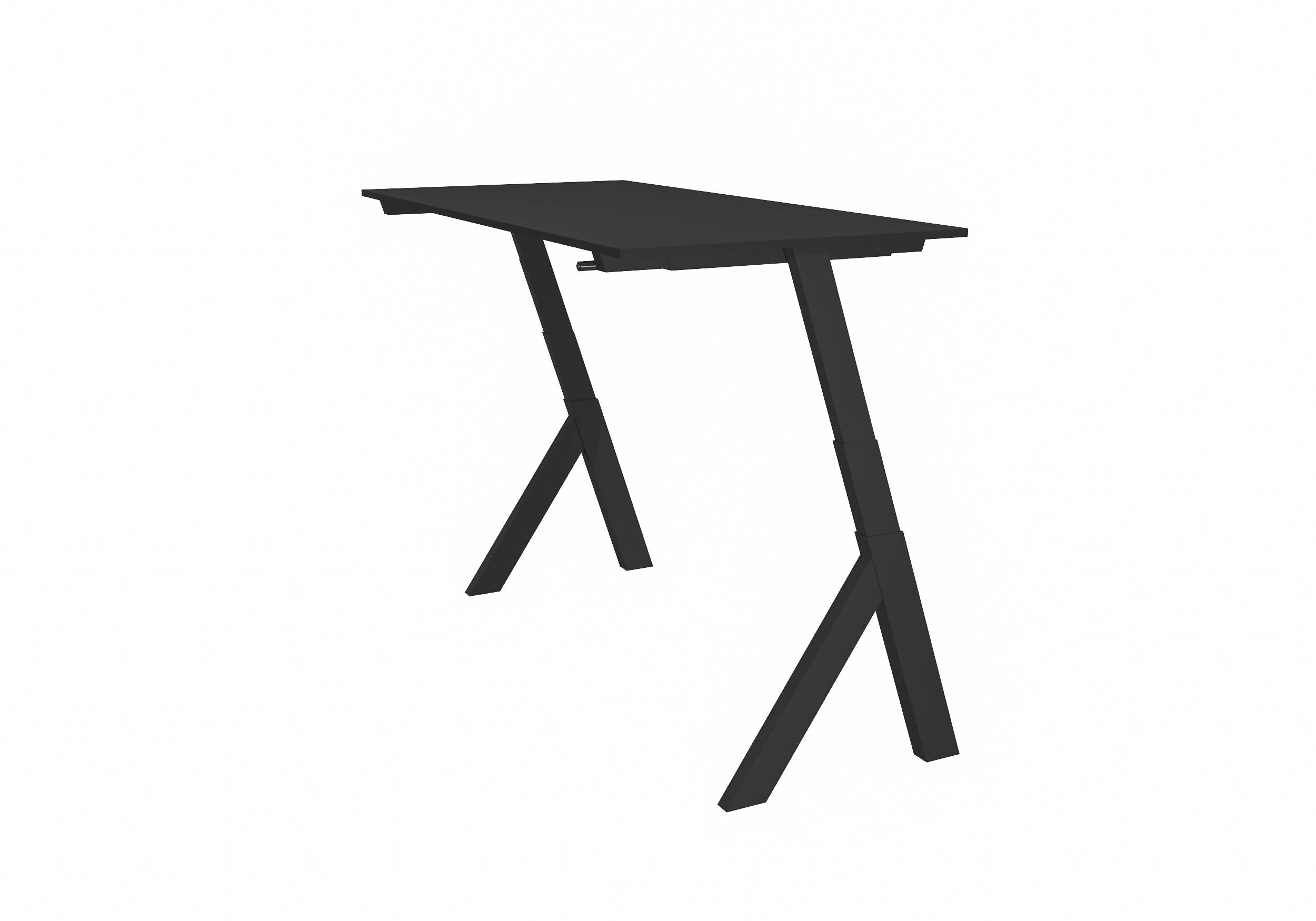 Workhub Standup Desk Zwart