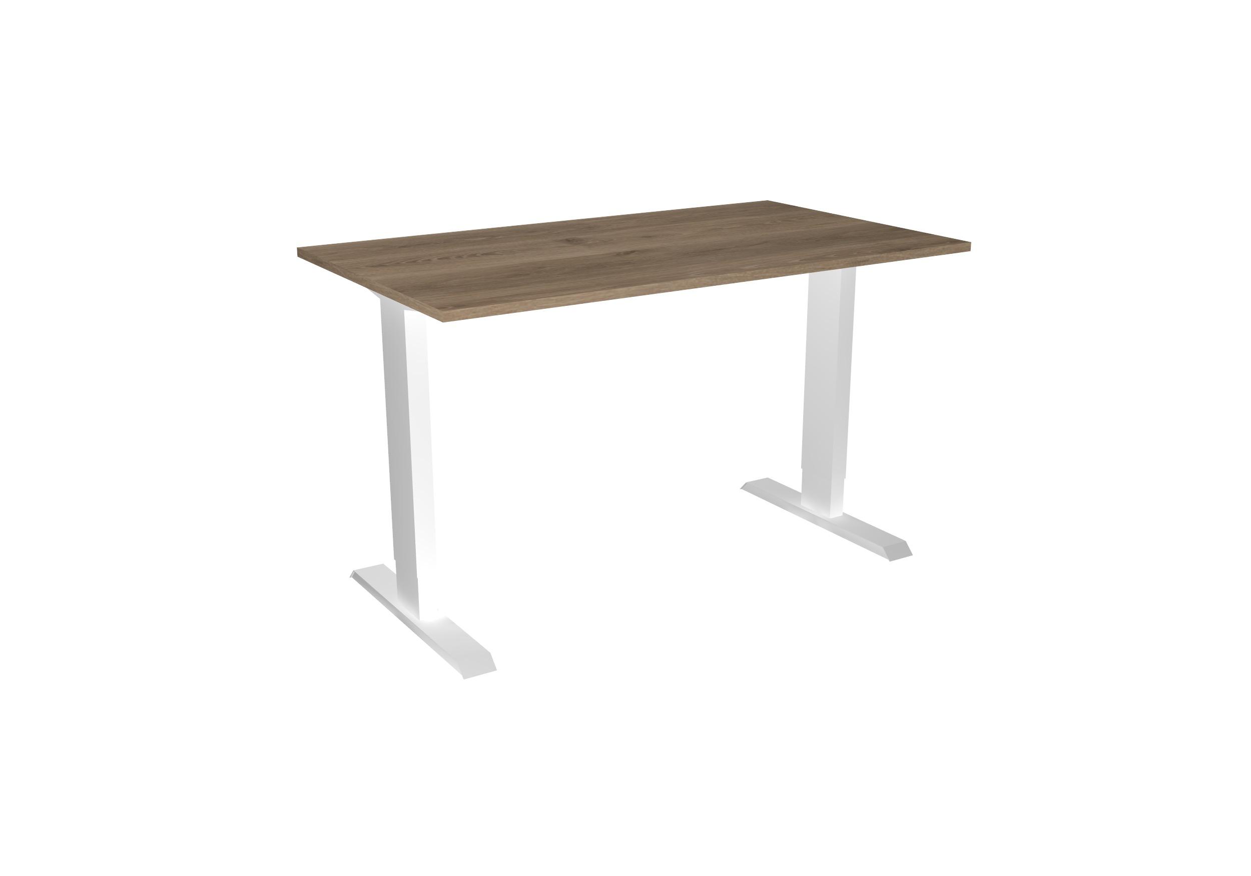 Desk Basic - Hoog - Wit+Hout