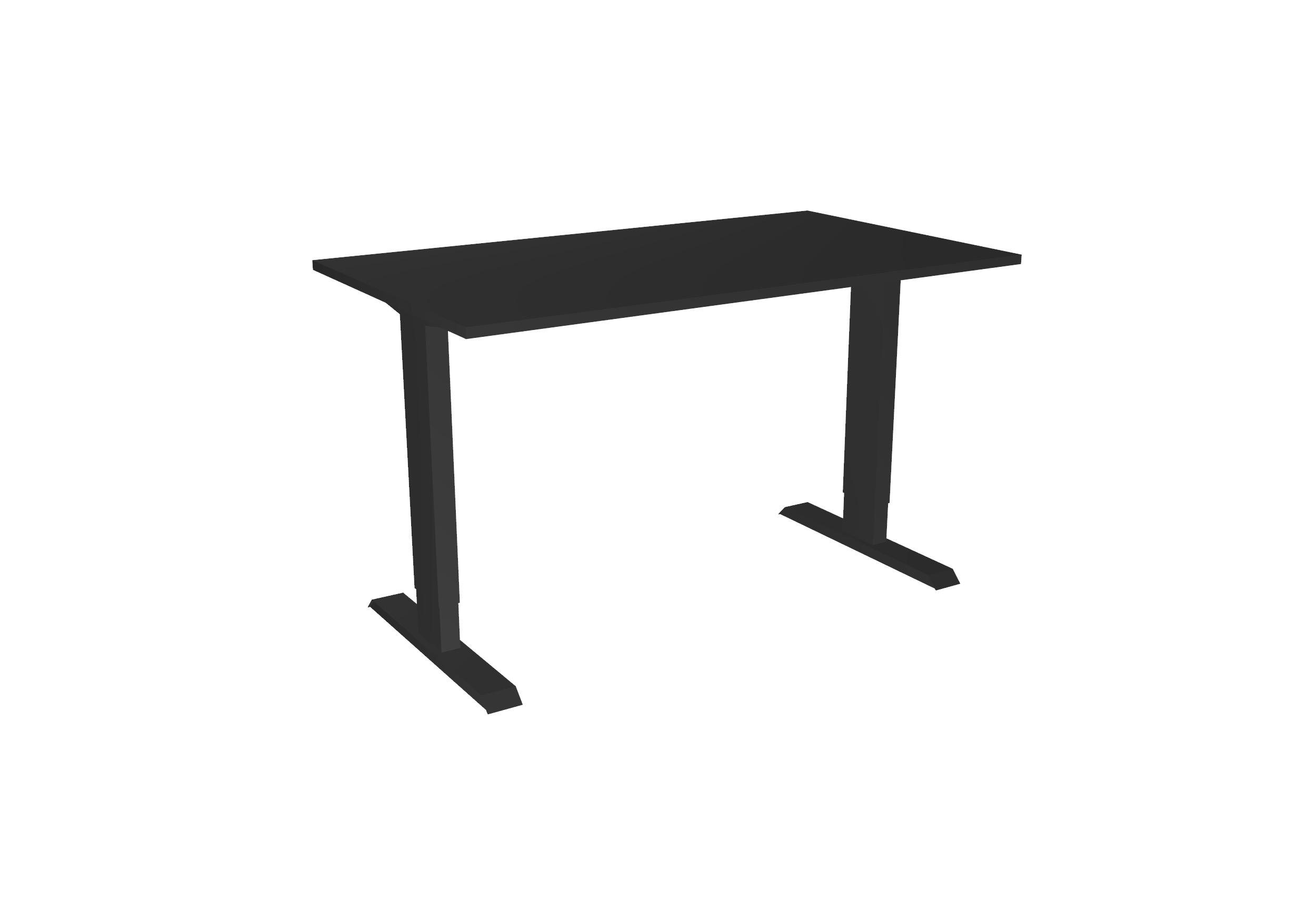 Desk Basic - Hoog - Zwart