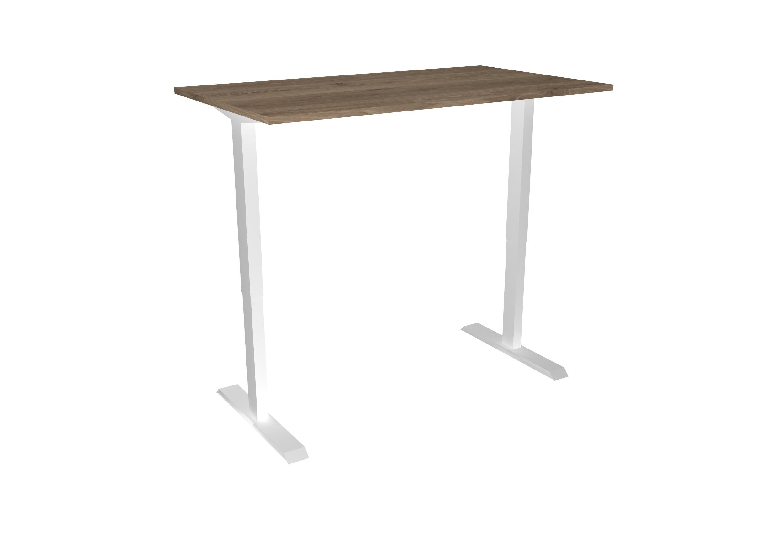 Desk Standup Basic - Hoog - Wit+Hout