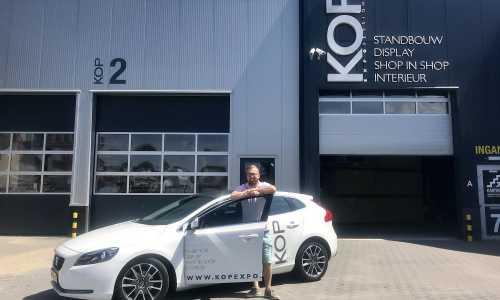 Erik in front of his KOP expo car